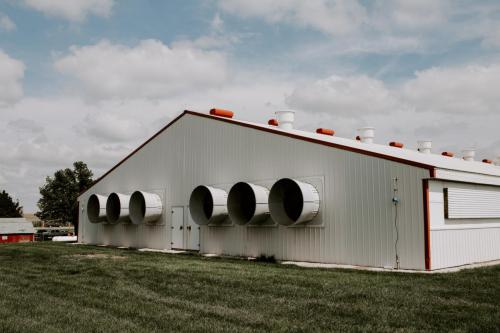 Newly Constructed Hog Barn by NexGen Ag Supply